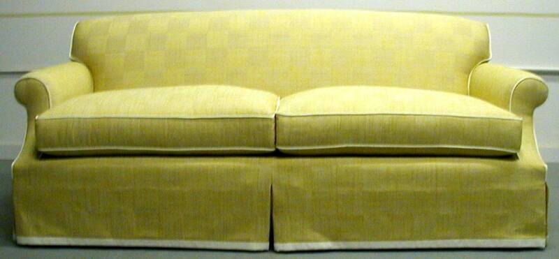 Crestback Sofa With Contrast Border And Welt